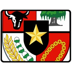 Shield Of National Emblem Of Indonesia  Double Sided Fleece Blanket (large)  by abbeyz71