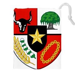 Shield Of National Emblem Of Indonesia  Drawstring Pouches (xxl) by abbeyz71