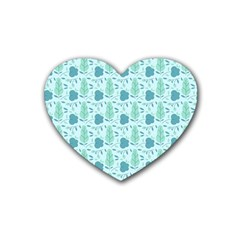 Seamless Floral Background  Heart Coaster (4 Pack)  by TastefulDesigns