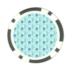 Seamless Floral Background  Poker Chip Card Guard (10 Pack) by TastefulDesigns