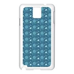Seamless Floral Background  Samsung Galaxy Note 3 N9005 Case (white) by TastefulDesigns