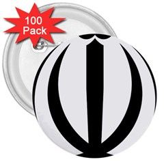Emblem Of Iran 3  Buttons (100 Pack)  by abbeyz71