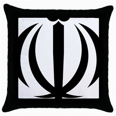 Emblem Of Iran Throw Pillow Case (black) by abbeyz71