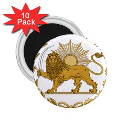 Lion & Sun Emblem Of Persia (iran) 2 25  Magnets (10 Pack)  by abbeyz71
