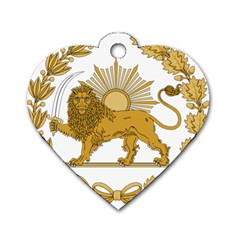 Lion & Sun Emblem Of Persia (iran) Dog Tag Heart (one Side) by abbeyz71
