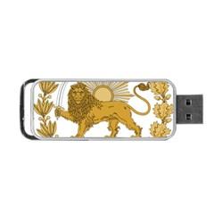 Lion & Sun Emblem Of Persia (iran) Portable Usb Flash (one Side) by abbeyz71
