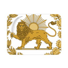 Lion & Sun Emblem Of Persia (iran) Double Sided Flano Blanket (mini)  by abbeyz71