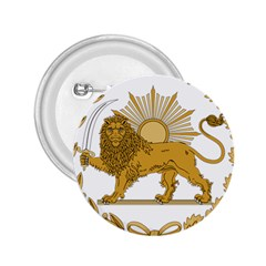 Lion & Sun Emblem Of Persia (iran) 2 25  Buttons by abbeyz71