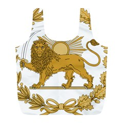 Lion & Sun Emblem Of Persia (iran) Full Print Recycle Bags (l)  by abbeyz71