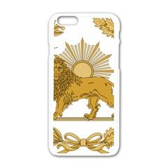 Lion & Sun Emblem Of Persia (iran) Apple Iphone 6/6s White Enamel Case by abbeyz71
