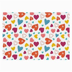 Colorful Bright Hearts Pattern Large Glasses Cloth by TastefulDesigns