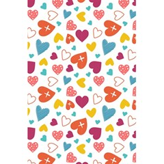 Colorful Bright Hearts Pattern 5 5  X 8 5  Notebooks by TastefulDesigns