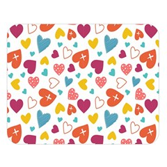 Colorful Bright Hearts Pattern Double Sided Flano Blanket (large)  by TastefulDesigns