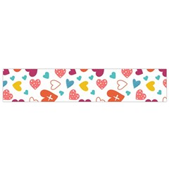 Colorful Bright Hearts Pattern Flano Scarf (small) by TastefulDesigns