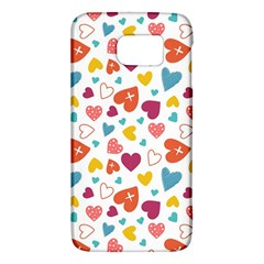 Colorful Bright Hearts Pattern Galaxy S6 by TastefulDesigns