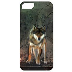 Awesome Wolf In The Night Apple Iphone 5 Classic Hardshell Case by FantasyWorld7