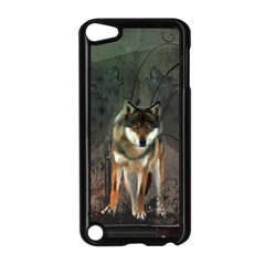 Awesome Wolf In The Night Apple Ipod Touch 5 Case (black) by FantasyWorld7