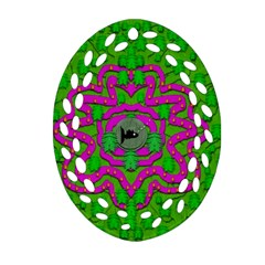 Vegetarian Art With Pasta And Fish Oval Filigree Ornament (two Sides) by pepitasart