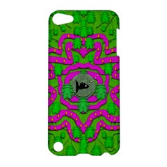 Vegetarian Art With Pasta And Fish Apple Ipod Touch 5 Hardshell Case by pepitasart