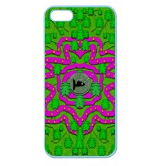 Vegetarian Art With Pasta And Fish Apple Seamless Iphone 5 Case (color) by pepitasart
