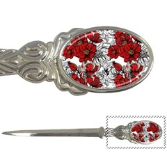 Hand Drawn Red Flowers Pattern Letter Openers by TastefulDesigns