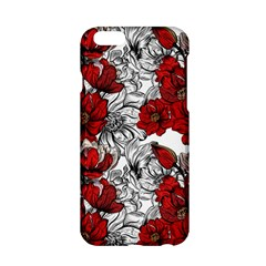 Hand Drawn Red Flowers Pattern Apple Iphone 6/6s Hardshell Case by TastefulDesigns