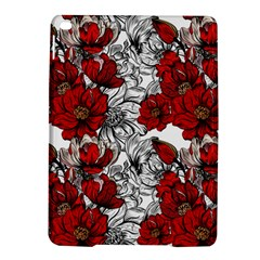 Hand Drawn Red Flowers Pattern Ipad Air 2 Hardshell Cases by TastefulDesigns
