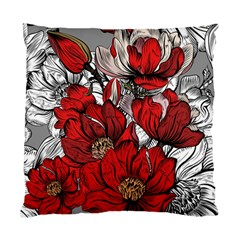 Red Flowers Pattern Standard Cushion Case (two Sides) by TastefulDesigns