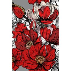 Red Flowers Pattern 5 5  X 8 5  Notebooks by TastefulDesigns