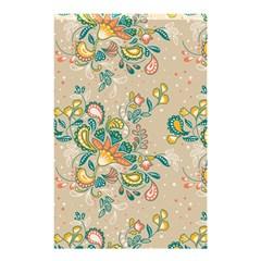 Hand Drawn Batik Floral Pattern Shower Curtain 48  X 72  (small)  by TastefulDesigns