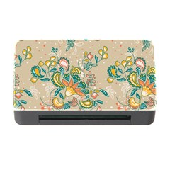 Hand Drawn Batik Floral Pattern Memory Card Reader With Cf by TastefulDesigns