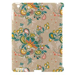 Hand Drawn Batik Floral Pattern Apple Ipad 3/4 Hardshell Case (compatible With Smart Cover) by TastefulDesigns