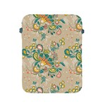 Hand drawn batik floral pattern Apple iPad 2/3/4 Protective Soft Cases Front