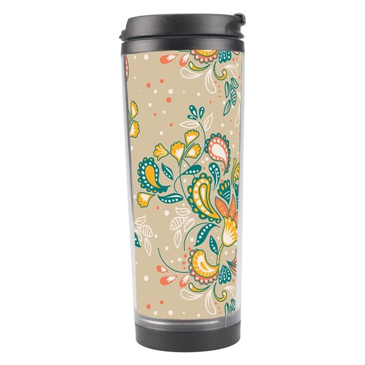 Hand drawn batik floral pattern Travel Tumbler