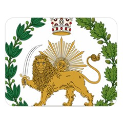 Imperial Coat Of Arms Of Persia (iran), 1907 1925 Double Sided Flano Blanket (large)  by abbeyz71