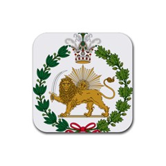 Imperial Coat Of Arms Of Persia (iran), 1907 1925 Rubber Square Coaster (4 Pack)  by abbeyz71