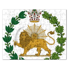 Imperial Coat Of Arms Of Persia (iran), 1907 1925 Rectangular Jigsaw Puzzl by abbeyz71