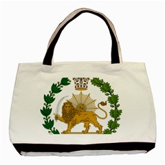 Imperial Coat Of Arms Of Persia (iran), 1907 1925 Basic Tote Bag by abbeyz71