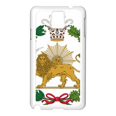 Imperial Coat Of Arms Of Persia (iran), 1907 1925 Samsung Galaxy Note 3 N9005 Case (white)