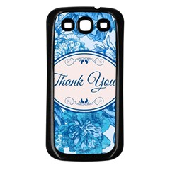Thank You Samsung Galaxy S3 Back Case (Black) by Vanbedor