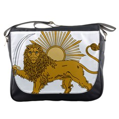 National Emblem Of Iran, Provisional Government Of Iran, 1979 1980 Messenger Bags by abbeyz71