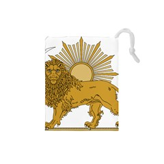 National Emblem Of Iran, Provisional Government Of Iran, 1979 1980 Drawstring Pouches (small)  by abbeyz71