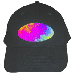 Grunge Radial Gradients Red Yellow Pink Cyan Green Black Cap by EDDArt