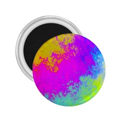 Grunge Radial Gradients Red Yellow Pink Cyan Green 2 25  Magnets by EDDArt