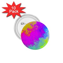 Grunge Radial Gradients Red Yellow Pink Cyan Green 1 75  Buttons (10 Pack) by EDDArt