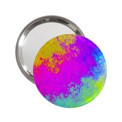 Grunge Radial Gradients Red Yellow Pink Cyan Green 2 25  Handbag Mirrors by EDDArt