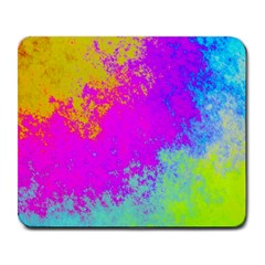 Grunge Radial Gradients Red Yellow Pink Cyan Green Large Mousepads by EDDArt