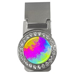 Grunge Radial Gradients Red Yellow Pink Cyan Green Money Clips (cz)  by EDDArt
