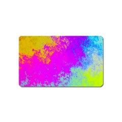 Grunge Radial Gradients Red Yellow Pink Cyan Green Magnet (name Card) by EDDArt