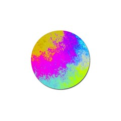 Grunge Radial Gradients Red Yellow Pink Cyan Green Golf Ball Marker (4 Pack) by EDDArt